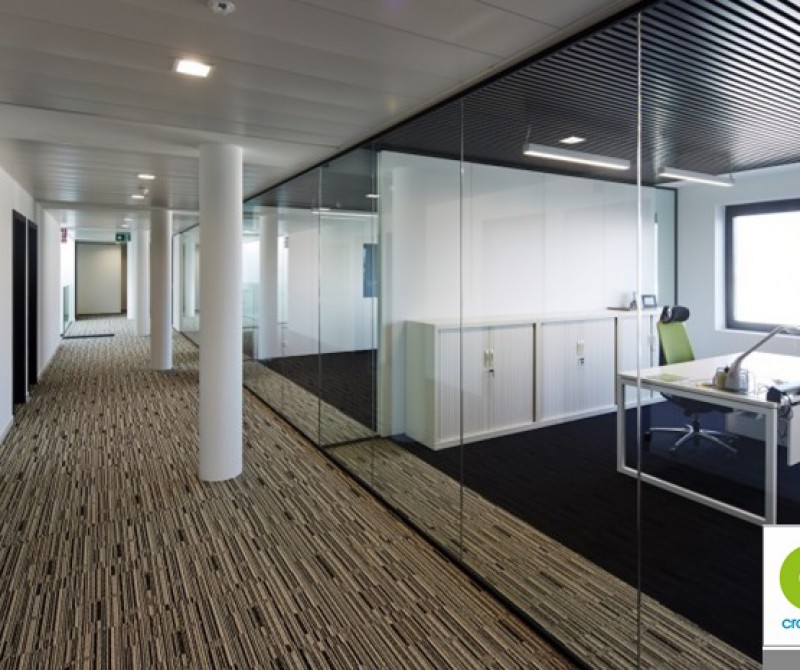 Single HAAS glazed partitions